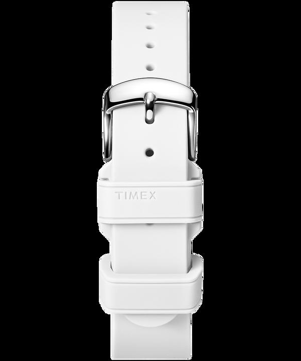 18mm breites Silikonarmband White large