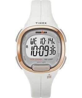 Ironman Transit, 10 33 mm, Mittlere Größe, Uhr mit Harzarmband Weiß/roségoldfarben large