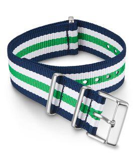 20 mm Zugarmband aus doppellagigem Textil Grün large