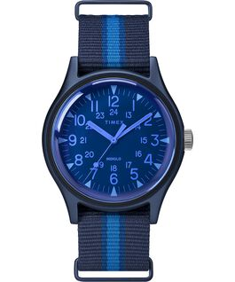 MK1 California mit Textilarmband, 40 mm Blau large