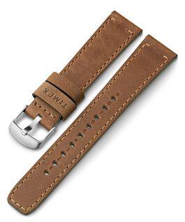 20 mm breites Lederarmband mit Schnellverschluss Beige large