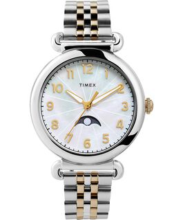 Model 23 38mm Stainless Steel Bracelet Watch Silver-Tone/Two-Tone/Mother-of-Pearl large
