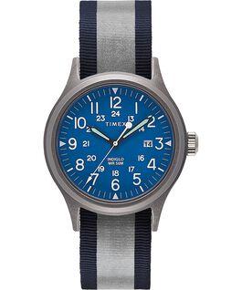 Allied mit reflektierendem Textilarmband zum Wenden, 40mm Silberfarben/blau large