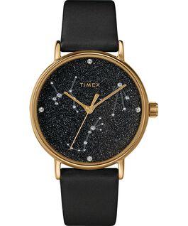 Celestial Opulence 37 mm Armbanduhr mit strukturiertem Armband Goldfarben/schwarz-WAAGE,SKORPION,SCHÜTZE large