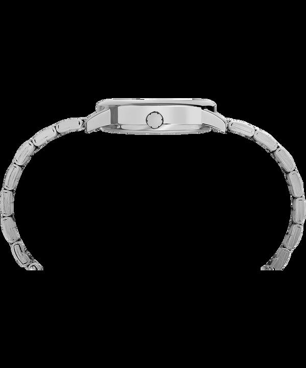 Easy Reader mit Metallarmband, 30mm Silver-Tone/White large