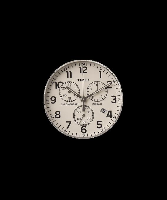 Cremefarbenes Ziffernblatt/silberfarbener Sekundenzeiger  large