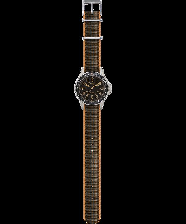 Navi Ocean mit Elastikarmband, 38 mm Edelstahl/schwarz large