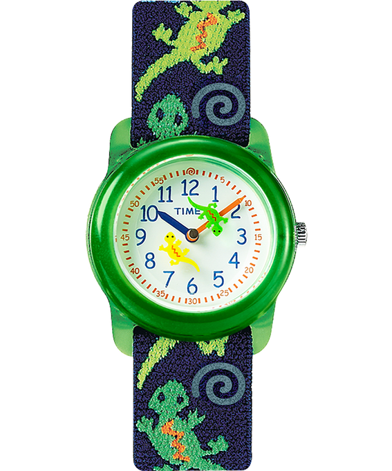Kids Analog mit Elastikarmband, 29 mm Green/Blue/White large