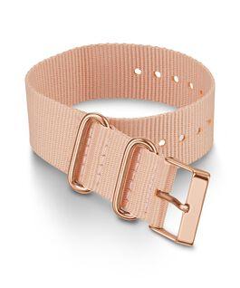 20 mm einlagiges Textil-Zugarmband Rosa large