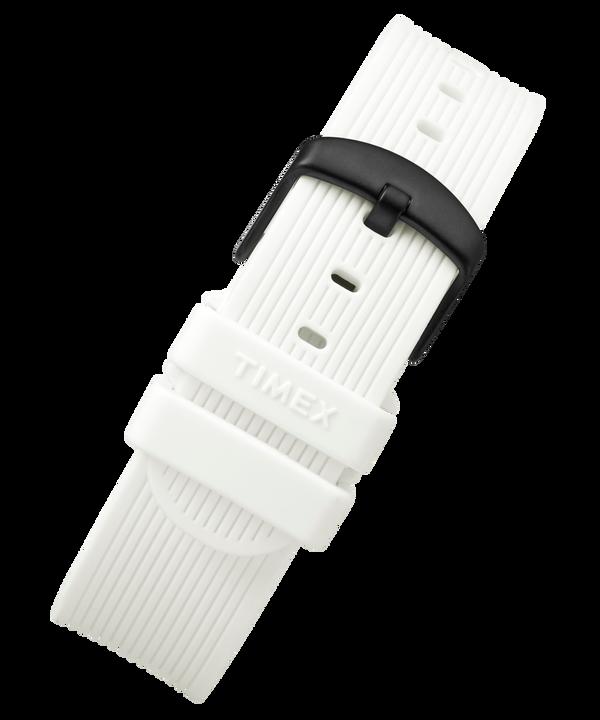 20mm breites Silikonarmband White large
