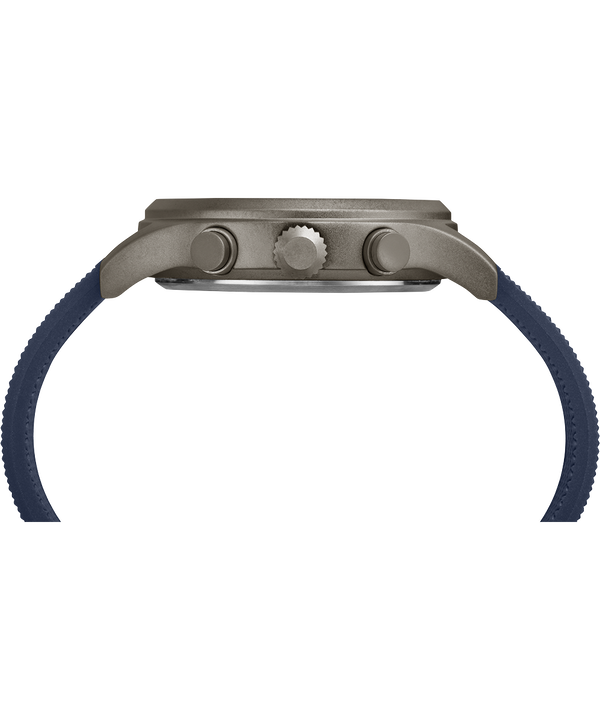 Allied Chronograph mit Silikonarmband, 42 mm Gray/Blue large