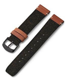 20 mm Leder- und Textilarmband Schwarz large