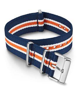 20 mm Zugarmband aus doppellagigem Textil Orange large