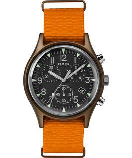 MK1 Aluminum Chronograph 40mm Nylon Strap Watch Green/Orange/Black large