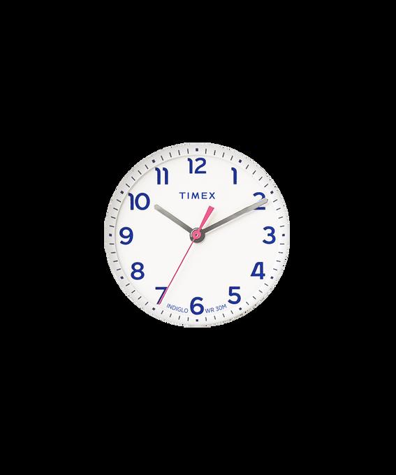 Weißes Ziffernblatt/rosafarbener Sekundenzeiger  large