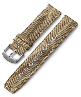 20 mm Textilarmband mit Schnellverschluss Beige large