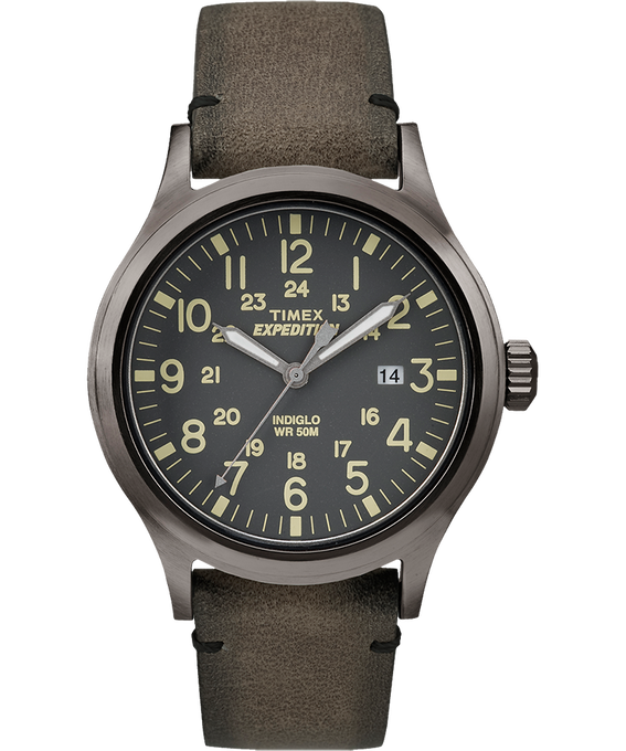 Expedition Scout 40mm Leather Watch