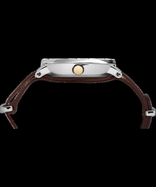 Southview mit Lederarmband, 41mm Chrome/Brown/Cream/Gold-Tone large