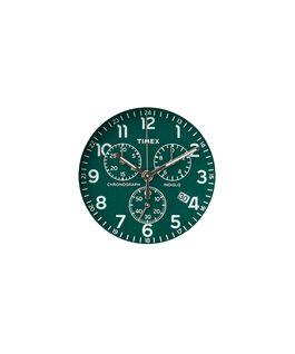 Grünes Ziffernblatt/silberfarbener Sekundenzeiger  large