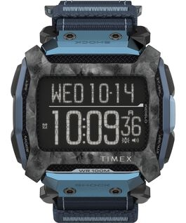 Command Shock 54mm Fabric Fast Wrap Watch Black/Blue large
