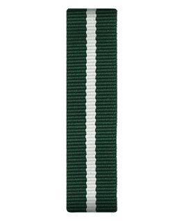 Grün/weißes Nylon-Armband zum Überstreifen  large