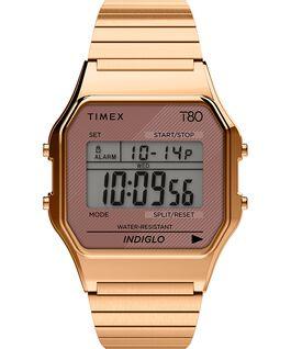 Timex T80 Edelstahl mit Stretch-Armband, 34 mm Roségoldfarben large