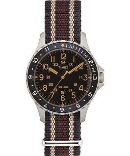 Navi Ocean, 38 mm, mit Textilarmband Black/Brown large
