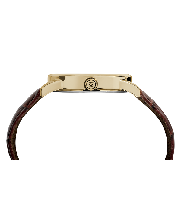 Easy Reader Signature mit Lederarmband, 38mm Two-Tone/Brown/White large