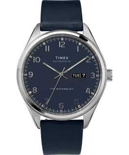 Waterbury-Traditional-Automatic-42mm-Leather-Strap-Watch-with-Day-Date Stainless-Steel/Blue large