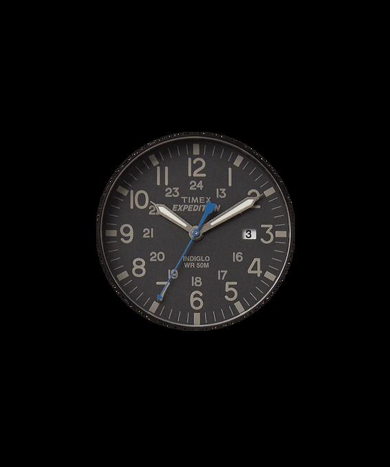 Schwarzes Ziffernblatt/blauer Sekundenzeiger  large