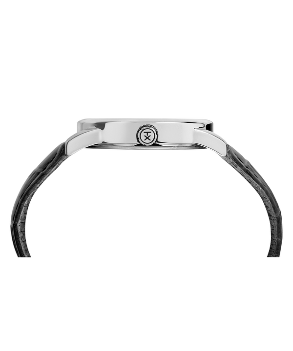 Easy Reader Signature mit Lederarmband, 38 mm Chrome/Black/White large