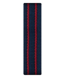 Rot/blaues Nylon-Armband zum Überstreifen  large