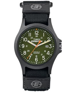 Expedition Acadia 40mm Fabric Strap Watch Black/Green large