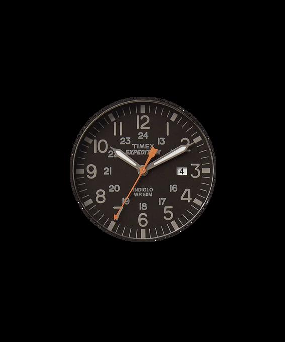 Schwarzes Ziffernblatt/orangefarbener Sekundenzeiger  large