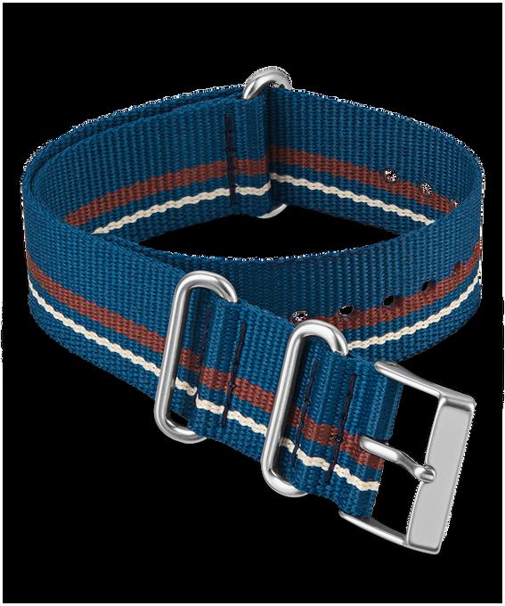 20 mm Zugarmband aus doppellagigem Textil Blau large