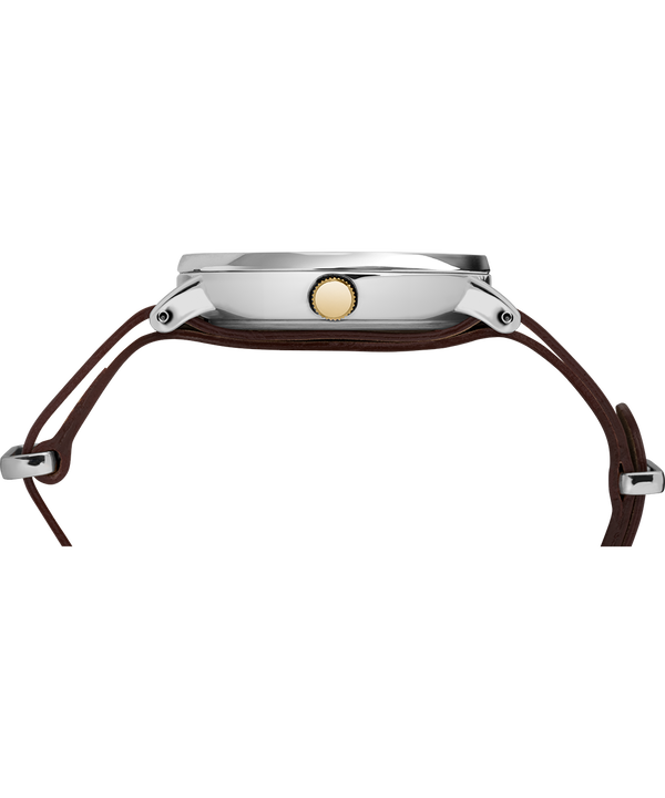 Southview mit Lederarmband, 41 mm Chrome/Brown/Cream/Gold-Tone large