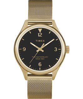 Waterbury Traditional Womens 34mm Mesh Bracelet Watch Gold-Tone/Black large
