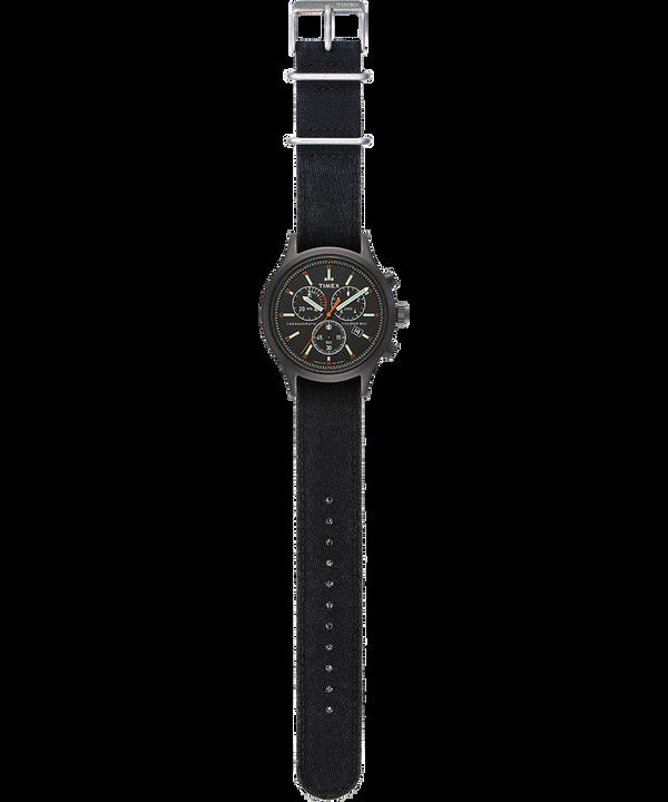 Allied Chronograph mit Denim-Armband im Stonewashed-Stil, 42mm Schwarz large