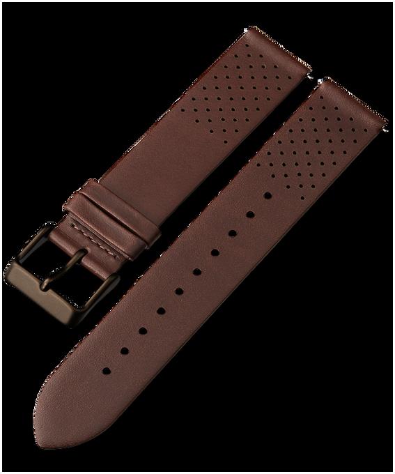 20 mm perforiertes Lederarmband mit Schnellverschluss 1 Braun large