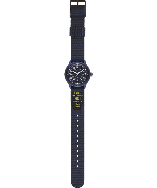 MK1 Military mit Ripsband-Armband, 36 mm Blau large