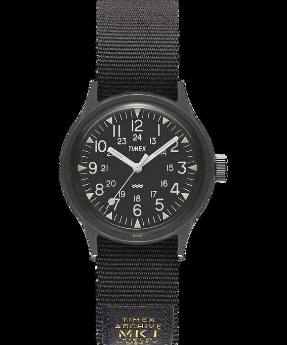 MK1 Military mit Ripsband-Armband, 36 mm Schwarz large