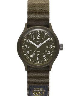 MK1 Military mit Ripsband-Armband, 36 mm Schwarz/grün large