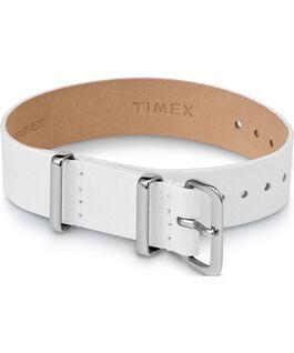 Variety einlagiges Zugarmband aus Leder, 16 mm Weiß large