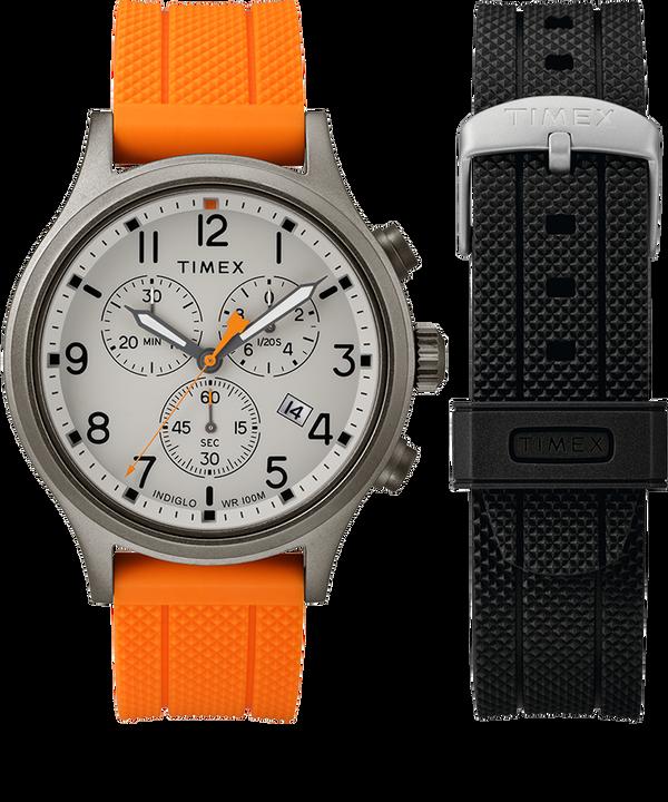 Allied Chronograph Geschenk-Set mit Extra-Armband, 42mm Gray/Orange large