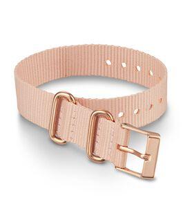 16 mm einlagiges Textil-Zugarmband mit Schnalle in Roségold Rosa large