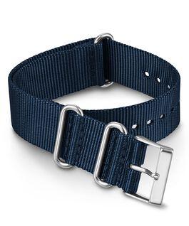 20 mm einfarbiges Zugarmband aus doppellagigem Textil Blau large