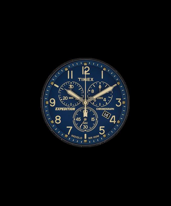 Blaues Ziffernblatt/cremefarbener Sekundenzeiger  large