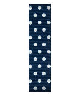Blau/Nylon-Armband zum Überstreifen mit weißen Punkten  large