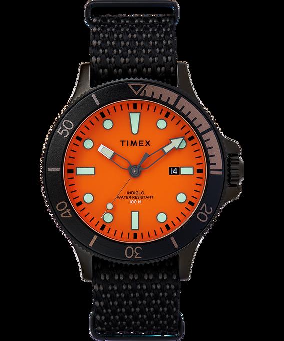 Allied Coastline mit rotierender Lünette und Textilarmband, 43 mm Schwarz/orange large