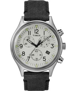 MK1 Chronograph Steel 42mm Fabric Strap Watch Stainless-Steel/Black/Gray large